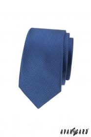 Tmavě modrá pánská slim kravata