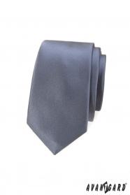 Šedá pánská kravata slim