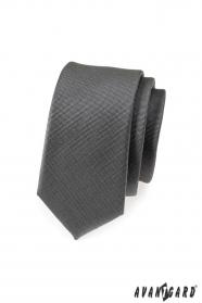 Grafitově šedá slim kravata