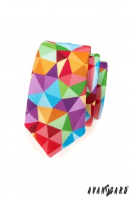 Pestrobarevná kravata SLIM