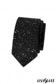 Černá slim kravata Noty