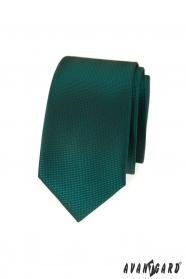 Tmavě zelená slim kravata