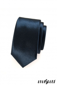 Kravata SLIM pro pány modrá navy