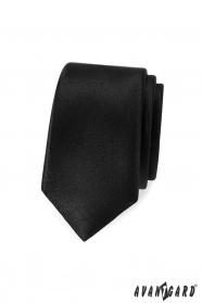 Úzká, Černá pánská kravata Avantgard
