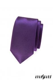 Hladká fialová kravata SLIM