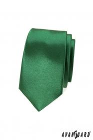 Slim kravata lesklém odstínu zelené