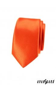 Kravata SLIM výrazné oranžové barvy