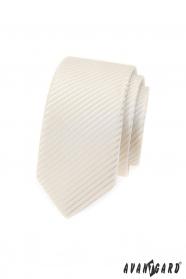 Kravata Avantgard SLIM ve smetanovém odstínu