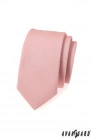 Úzká kravata SLIM v módní pudrové