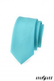 Úzká kravata SLIM tyrkysová mátová