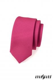 Úzká kravata SLIM fuchsiová mat