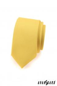 Úzká kravata SLIM pro pány jasně žlutá