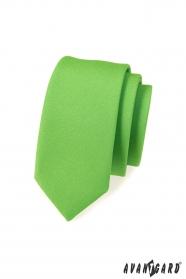 Úzká kravata SLIM zelená mat