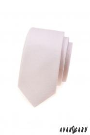 Úzká kravata Avantgard pudrové barvy
