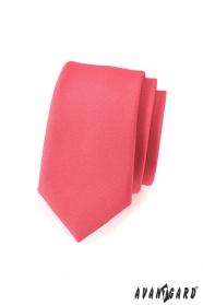 Slim kravata v korálové barvě