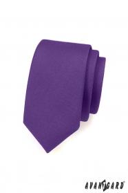Matně fialová slim kravata