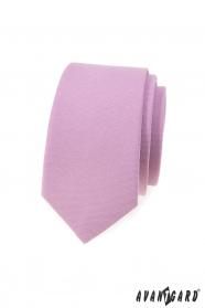 Slim kravata v barvě lila