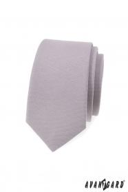 Šedá slim kravata