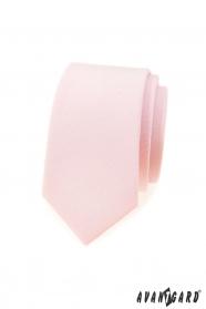 Slim kravata jemně lososové barvy