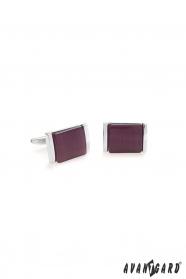 Manžetové knoflíčky stříbrné tmavě fialové