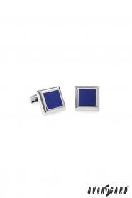 Manžetové knoflíčky ze stříbrného kovu modrofialové