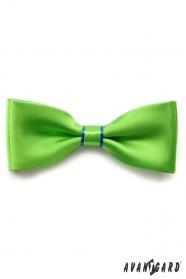 Zelený motýlek s modrým proužkem a kapesníčkem