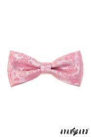 Růžový motýlek s Paisley vzorem + kapesníček