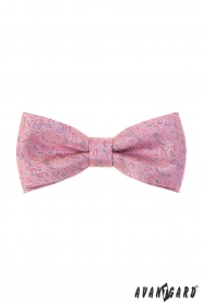 Růžový motýlek s šedým vzorem + kapesníček