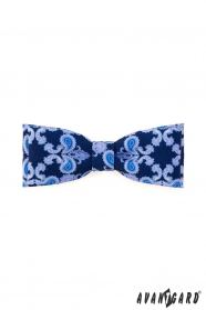 Pánský motýlek výrazný modrý vzor