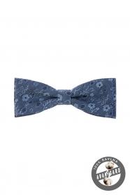 Bavlněný pánský motýlek modrá jeans