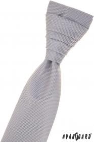 Šedá strukturovaná francouzská kravata