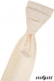 Smetanová francouzská kravata se vzorem