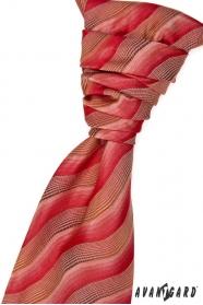 Svatební kravata s kapesníčkem červenohnedá