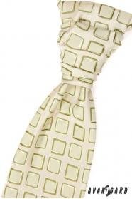 Svatební kravata zelené čtverečky