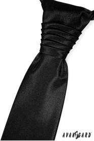 Elegantní černá svatební kravata