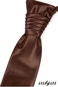 Svatební kravata (regata) čokoládová