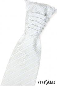Svatební kravata (regata) zelená s proužky