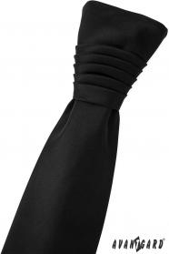 Francouzská svatební kravata černá matná