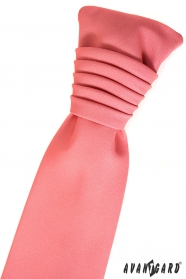 Matná korálová svatební kravata