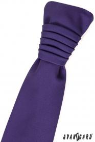 Tmavě fialová francouzská svatební kravata