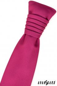 Francouzská svatební kravata fuchsiová
