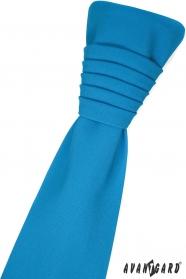 Tyrkysová francouzská kravata s kapesníčkem