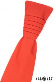 Tmavě oranžová francouzská kravata