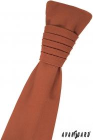 Skořicově hnědá francouzská kravata