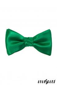 Vázací motýlek s kapesníčkem smaragdově zelený