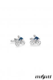 Manžetové knoflíčky Cyklista v modré