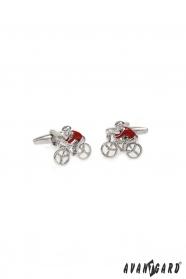 Manžetové knoflíčky Cyklista v červeném dresu