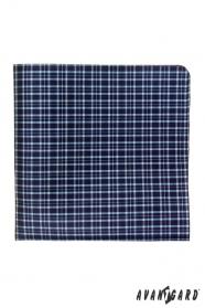 Pánský kapesníček modrá jemná kostka