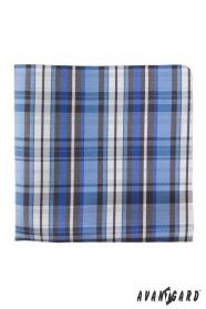 Pánský kapesníček modrý kostkovaný