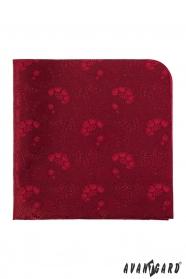 Pánský kapesníček červený květinový vzor